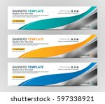 abstract web banner design... | Shutterstock .eps vector #597338921
