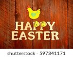 happy easter | Shutterstock . vector #597341171