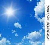 sun in blue sky.   Shutterstock . vector #59735002