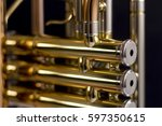 close up of a trumpet | Shutterstock . vector #597350615