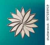 flower sign. vector. icon...