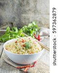 instant noodles in bowl with