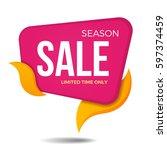 season sale label price tag...   Shutterstock .eps vector #597374459