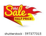 hot sale price offer deal... | Shutterstock .eps vector #597377315