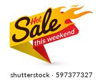 hot sale price offer deal... | Shutterstock .eps vector #597377327