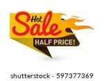 hot sale price offer deal... | Shutterstock .eps vector #597377369