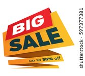 sale label price tag banner... | Shutterstock .eps vector #597377381