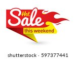 hot sale price offer deal... | Shutterstock .eps vector #597377441