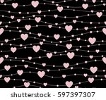 holiday background  seamless... | Shutterstock .eps vector #597397307