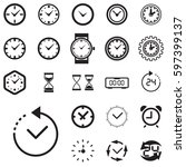 clock icon isolated. time logo  ... | Shutterstock .eps vector #597399137