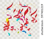 colorful abstract confetti.... | Shutterstock .eps vector #597401219