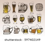 october fest. vector beer... | Shutterstock .eps vector #597402149