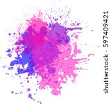 watercolor background for... | Shutterstock .eps vector #597409421