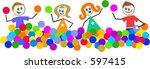 ballpool kids | Shutterstock . vector #597415
