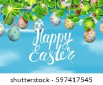 template vector card with... | Shutterstock .eps vector #597417545