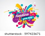 vector of modern abstract... | Shutterstock .eps vector #597423671