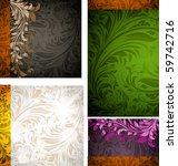 invitation complete card set | Shutterstock .eps vector #59742716