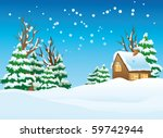 Vector Illustration Of A Snow...