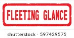 fleeting glance text  on red... | Shutterstock . vector #597429575