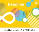abstract dynamic geometric... | Shutterstock .eps vector #597430505