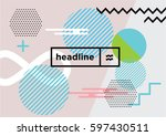 abstract dynamic geometric... | Shutterstock .eps vector #597430511