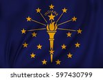 flag of indiana state of the... | Shutterstock .eps vector #597430799