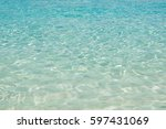 sea water of indian ocean on... | Shutterstock . vector #597431069