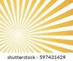 sun rays  vector illustration | Shutterstock .eps vector #597431429
