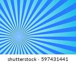 sun rays blue  vector | Shutterstock .eps vector #597431441