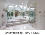 master bath in luxury home with ... | Shutterstock . vector #59744333