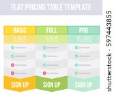 pricing plans for websites and... | Shutterstock .eps vector #597443855