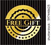 free gift gold shiny emblem
