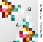 modern square abstract... | Shutterstock .eps vector #597448925