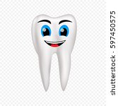 single mesh human tooth... | Shutterstock .eps vector #597450575