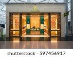 osaka   dec 12  rolex shop in... | Shutterstock . vector #597456917