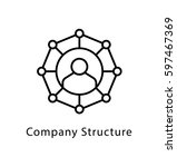 company structure vector line... | Shutterstock .eps vector #597467369