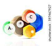 geometrical hexagon aqua... | Shutterstock .eps vector #597467927