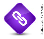 link icon isolated on elegant... | Shutterstock . vector #597472805