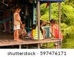 lake tonle sap  combodia   sep... | Shutterstock . vector #597476171
