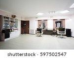 interior of a hairdressing salon | Shutterstock . vector #597502547