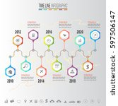 infographics design template... | Shutterstock .eps vector #597506147