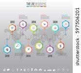 infographics design template... | Shutterstock .eps vector #597506201