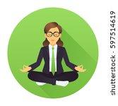 vector illustration of business ... | Shutterstock .eps vector #597514619