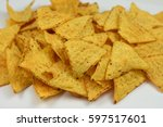tortilla chips  | Shutterstock . vector #597517601