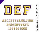 sport font. vector alphabet... | Shutterstock .eps vector #597518201