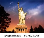 Statue Of Liberty  New York At...
