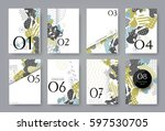 set of templates a4 pages.... | Shutterstock .eps vector #597530705