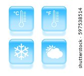 glassy weather icons. vector...