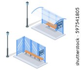 isometric flat 3d concept... | Shutterstock .eps vector #597541805
