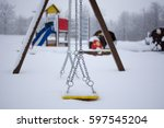 kids playground covered with... | Shutterstock . vector #597545204